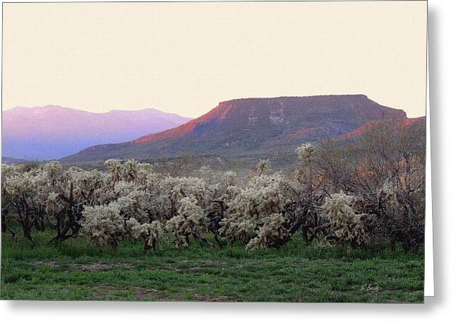 Cave Creek Cowboy Greeting Cards - Lost Mesa Greeting Card by Gordon Beck