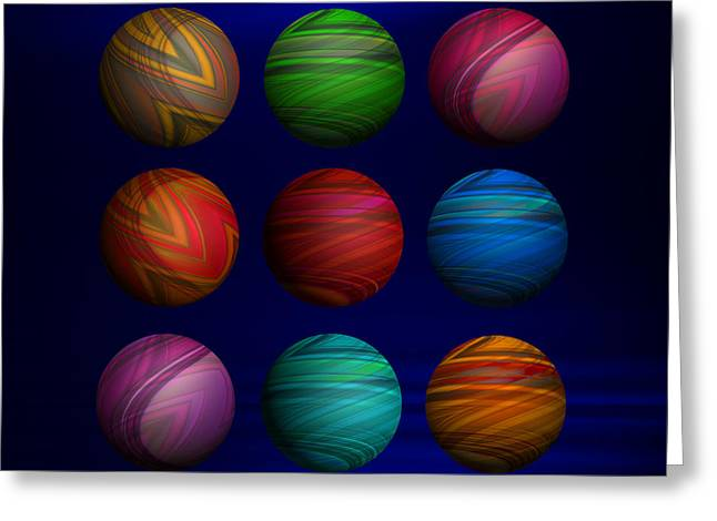 My Space Greeting Cards - Lost My Marbles Greeting Card by Mary Machare