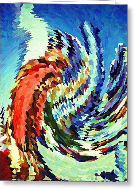 Top Seller Greeting Cards - Hurricane - Modern Contemporary Art Greeting Card by Peter Fine Art Gallery  - Paintings Photos Digital Art