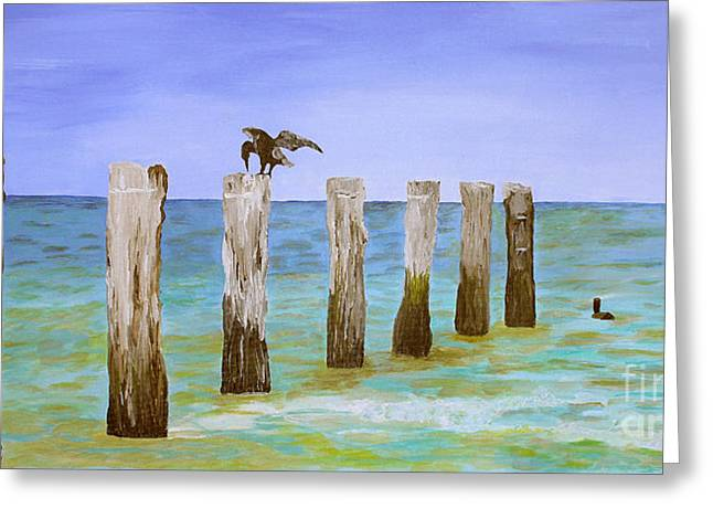 Sit-ins Greeting Cards - Lost Pier Greeting Card by Christine  Dekkers