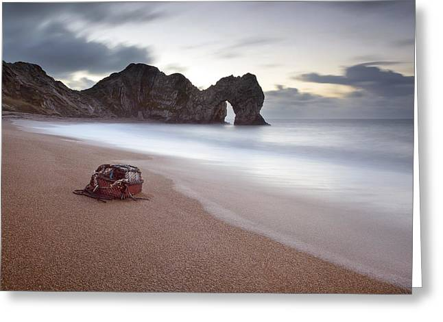 Lost Property At Durdle Door Greeting Card by Chris Frost