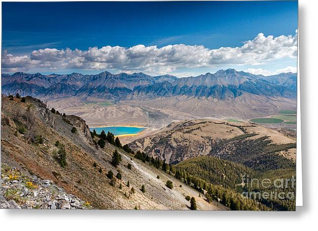 Usa Hikes Greeting Cards - Lost River Mountain Range Greeting Card by Robert Bales