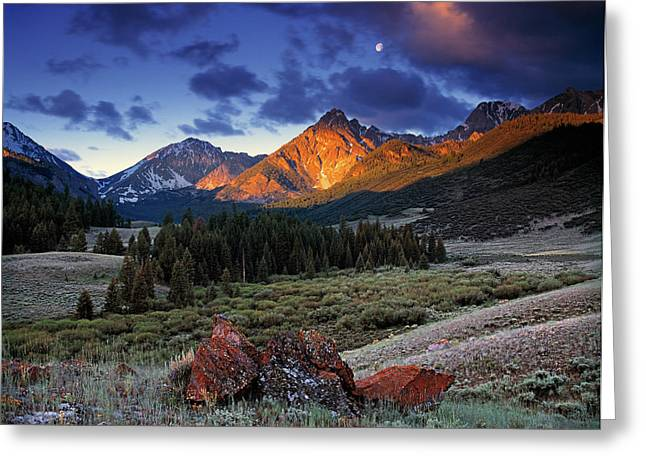 Scenic Greeting Cards - Lost River Mountains Greeting Card by Leland D Howard