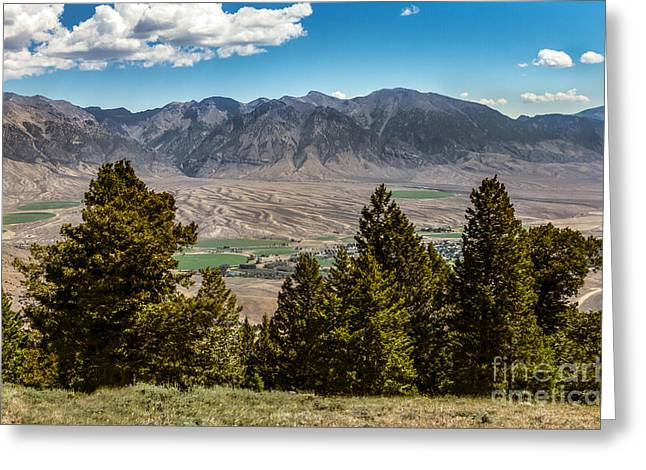 Lost River Mountains Greeting Card by Robert Bales