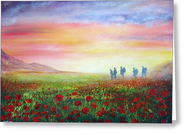 Kinkade Greeting Cards - Lost Sons Greeting Card by Ann Marie Bone