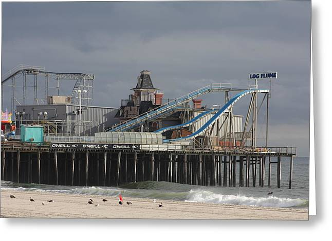 Casino Pier Greeting Cards - Lost To Sandy Greeting Card by Laura Wroblewski