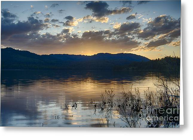 Lost Valley Reservoir Greeting Card by Idaho Scenic Images Linda Lantzy