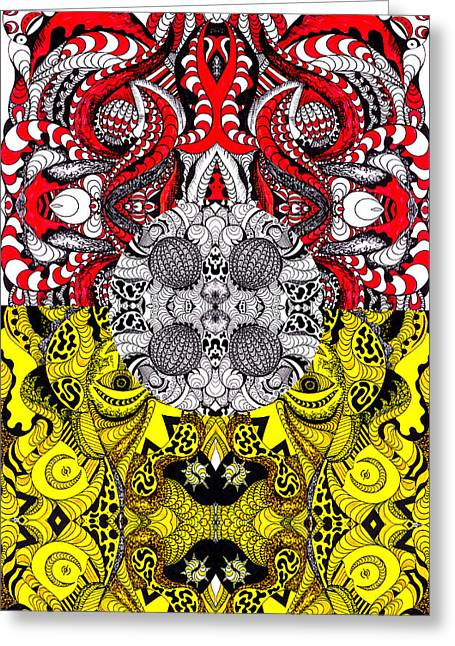 Kenal Louis Greeting Cards - Lost World Of Thoughts Greeting Card by Kenal Louis