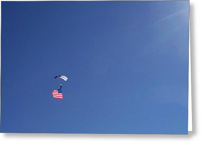 American_flag Greeting Cards - Lot Of Blue With Some Red And White Greeting Card by Carl Deaville