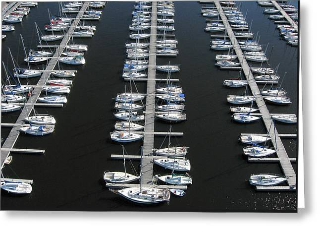 Lots Of Yachts Greeting Card by Rob Huntley