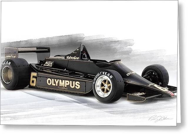 Peterson Greeting Cards - Lotus 79 Greeting Card by Peter Chilelli
