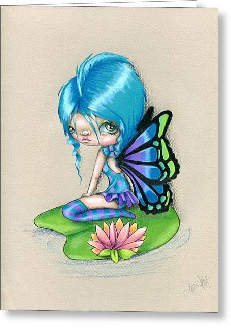 Lotus Blossom Greeting Card by Sour Taffy