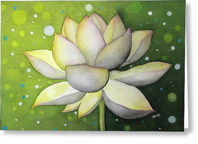 Oriental Greeting Cards - Lotus Dream Greeting Card by Oiyee  At Oystudio