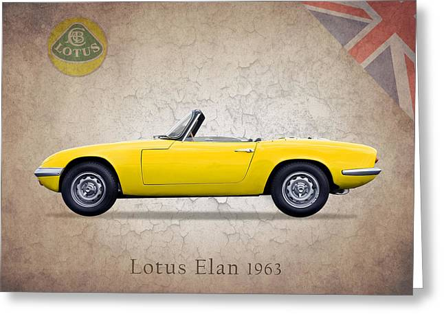 Classic Lotus Greeting Cards - Lotus Elan 1963 Greeting Card by Mark Rogan