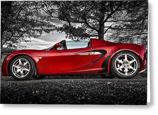 Classic Lotus Greeting Cards - Lotus Elan Greeting Card by Ian Hufton
