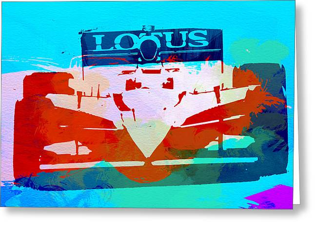 Classic Lotus Greeting Cards - Lotus F1 Racing Greeting Card by Naxart Studio