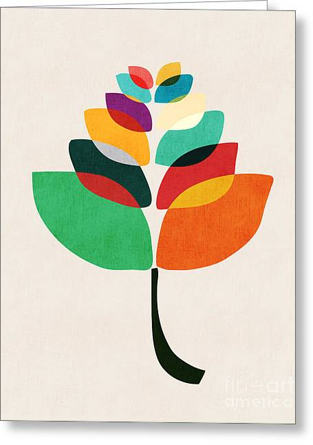 Shapes Digital Greeting Cards - Lotus flower Greeting Card by Budi Kwan