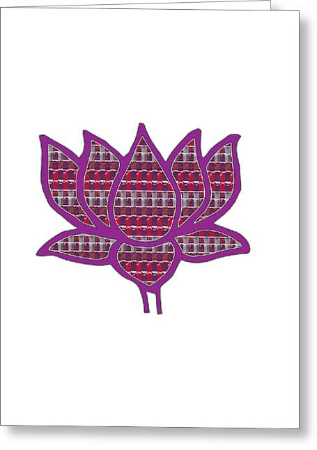 Wife Greeting Cards - Lotus Flower Pure Happiness  buy FAA print products or down load for self printing Navin Joshi Right Greeting Card by Navin Joshi