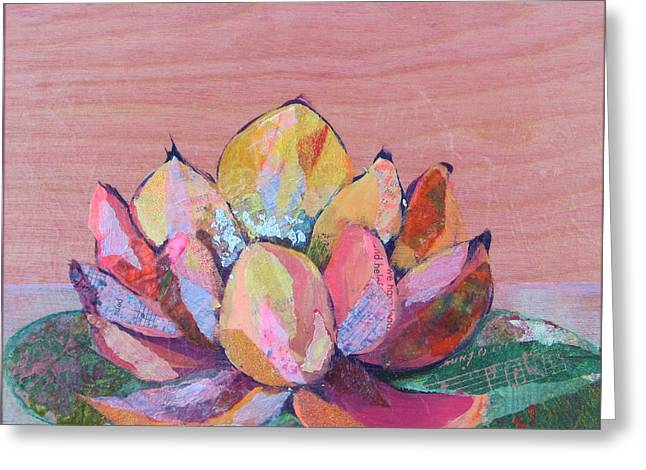 Lotus Flowers Greeting Cards - Lotus I Greeting Card by Shadia Zayed