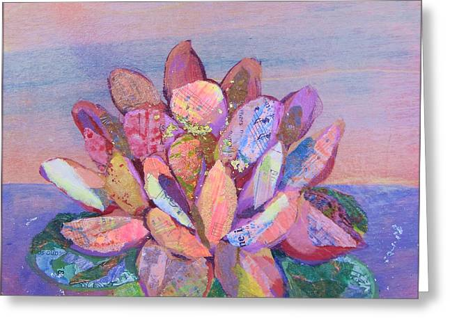 Lotus Flowers Greeting Cards - Lotus II Greeting Card by Shadia Zayed