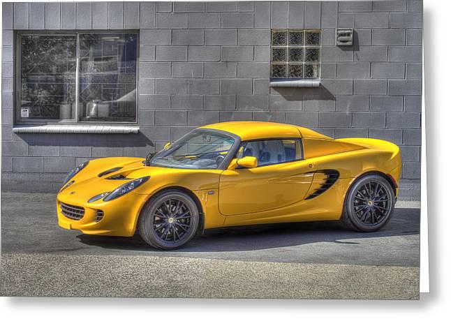 Lotus Sportscar Greeting Cards - Lotus Greeting Card by Ik Henkle