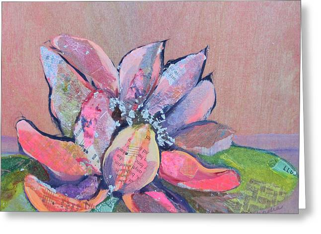 Succulents Greeting Cards - Lotus IV Greeting Card by Shadia Zayed