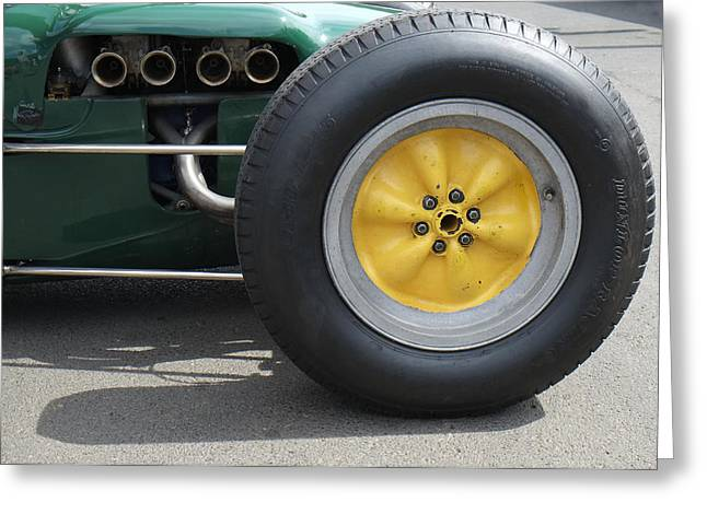 Knobbly Greeting Cards - Lotus Knobbly Wheel Greeting Card by Adrian Beese