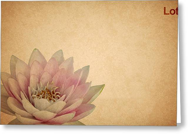 Lotus Leaves Greeting Cards - Lotus Greeting Card by Mark Rogan