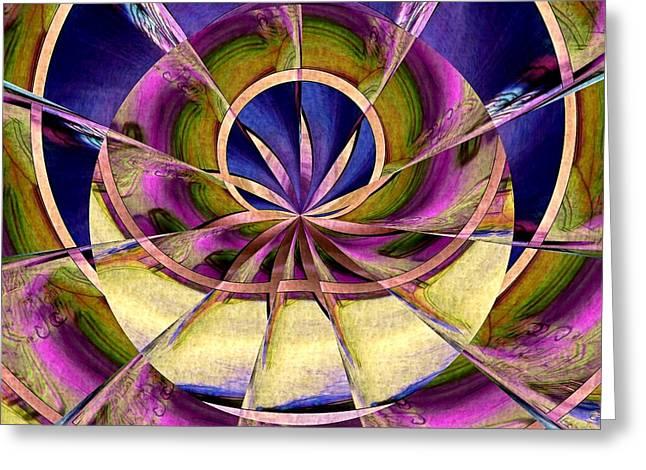 Lotus Full Bloom Greeting Cards - Lotus Moon Greeting Card by Susan Maxwell Schmidt
