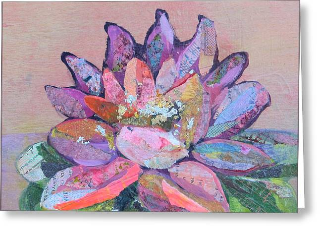 Lotus Flowers Greeting Cards - Lotus V Greeting Card by Shadia Zayed