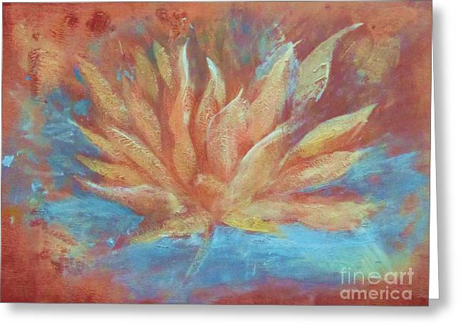Recently Sold -  - Loose Greeting Cards - Lotus Vitality Greeting Card by Beth Fischer