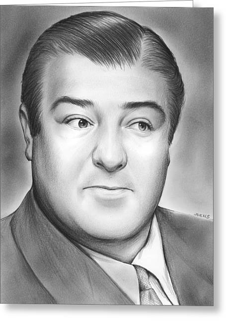 Comedian Greeting Cards - Lou Costello Greeting Card by Greg Joens