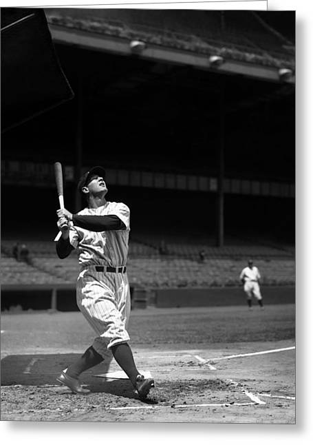 Gehrig Greeting Cards - Lou Gehrig Pop Up Greeting Card by Retro Images Archive