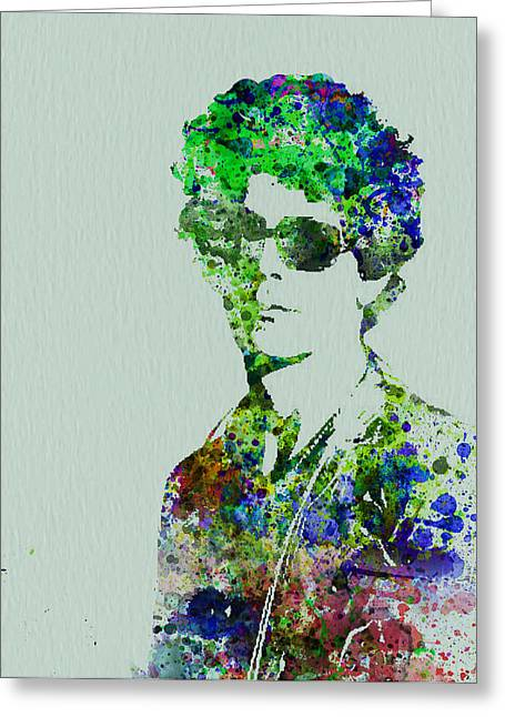 Portrait Greeting Cards - Lou Reed Greeting Card by Naxart Studio