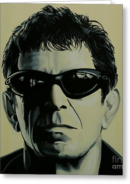 Lou Reed Painting Greeting Card by Paul Meijering