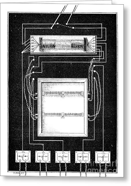 Ruhmkorff Coil Greeting Cards - Loudspeaker Apparatus, 19th Century Greeting Card by Spl