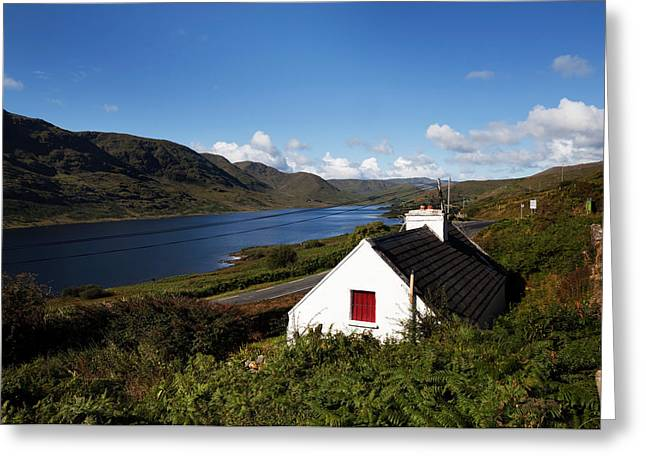 Mountain Road Greeting Cards - Lough Nafooey, Shot From The County Greeting Card by Panoramic Images