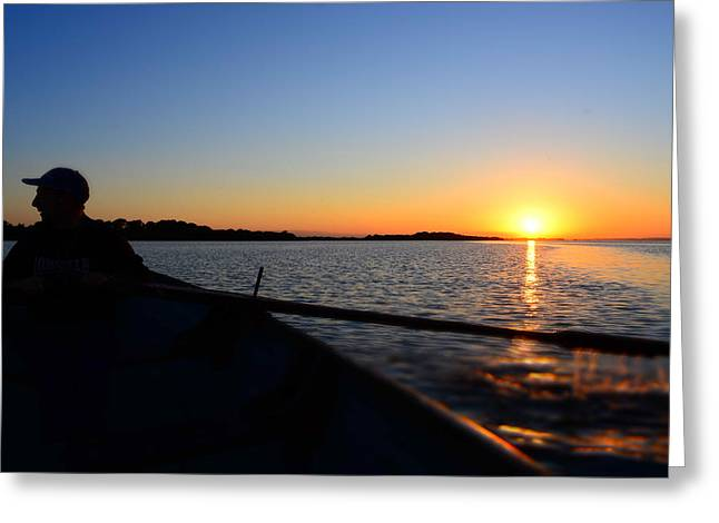 Neagh Greeting Cards - lough Neagh fisherman Greeting Card by Barry Kerr