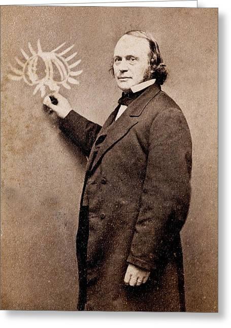 Louis Agassiz Greeting Card by Paul D Stewart