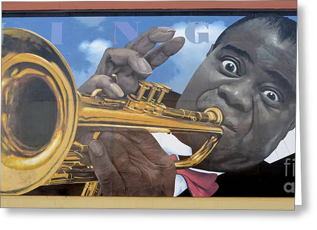Famous Ocean Photographers Greeting Cards - Louis Armstrong 2 Greeting Card by Bob Christopher