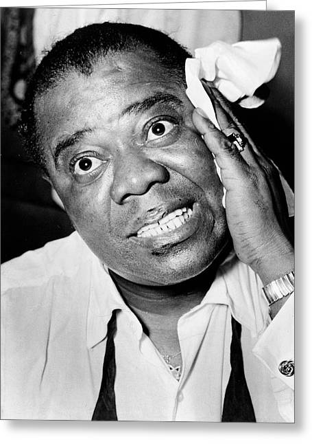 Satchmo Greeting Cards - Louis Armstrong Greeting Card by Mountain Dreams