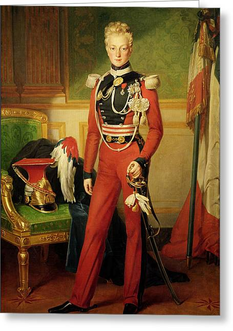 Full-length Portrait Photographs Greeting Cards - Louis-charles-philippe Of Orleans 1814-96 Duke Of Nemours, 1833 Oil On Canvas Greeting Card by Anton van Ysendyck