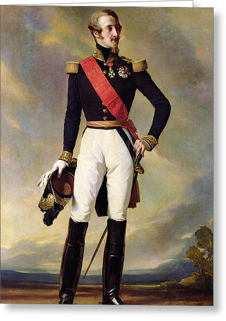 Full-length Portrait Photographs Greeting Cards - Louis-charles-philippe Of Orleans 1814-96 Duke Of Nemours, 1843 Oil On Canvas Greeting Card by Franz Xaver Winterhalter