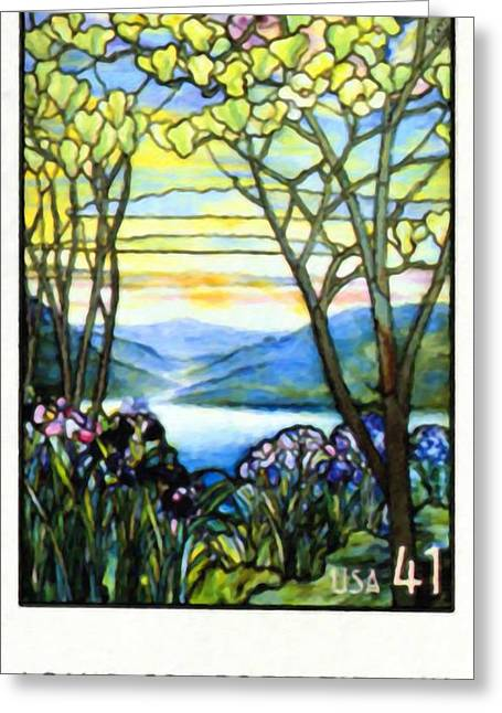 Window Of Life Greeting Cards - Louis Comfort Tiffany Greeting Card by Lanjee Chee