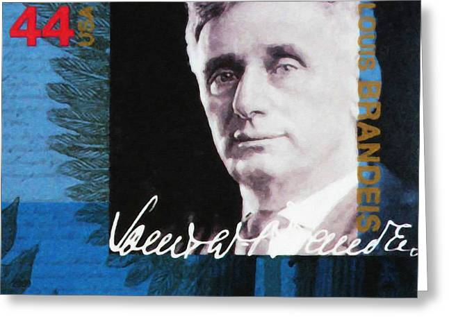 Reform Paintings Greeting Cards - Louis D Brandeis Greeting Card by Lanjee Chee