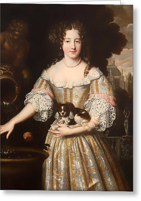 Duchess Greeting Cards - Louis de Keroulle - Duchess of Portsmouth Greeting Card by Henri Gascard