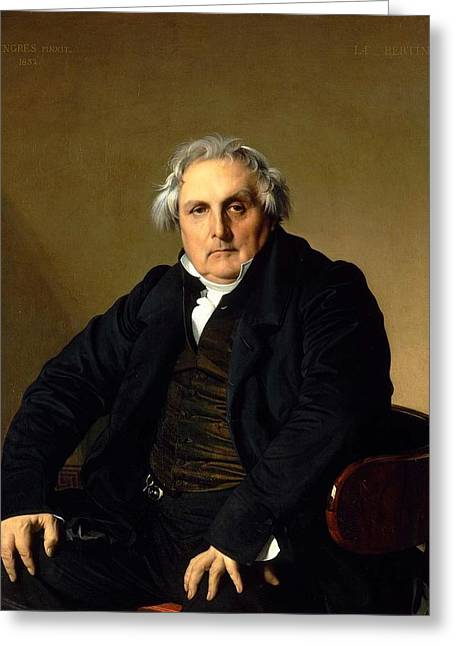 Louis-francois Bertin Greeting Card by Jean-Auguste-Dominique Ingres