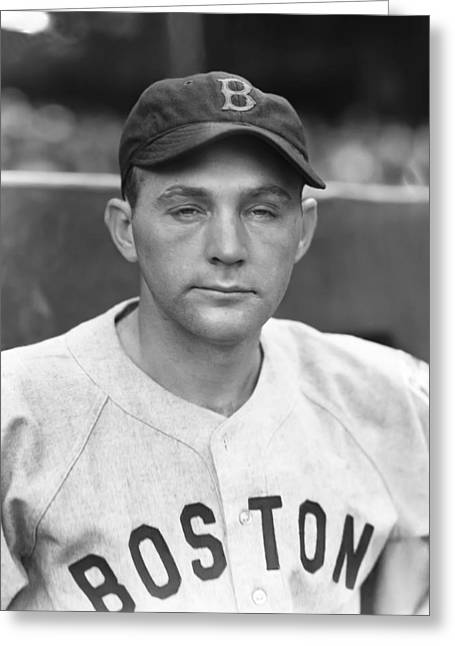 Boston Red Sox Greeting Cards - Louis K. Lou Finney Greeting Card by Retro Images Archive