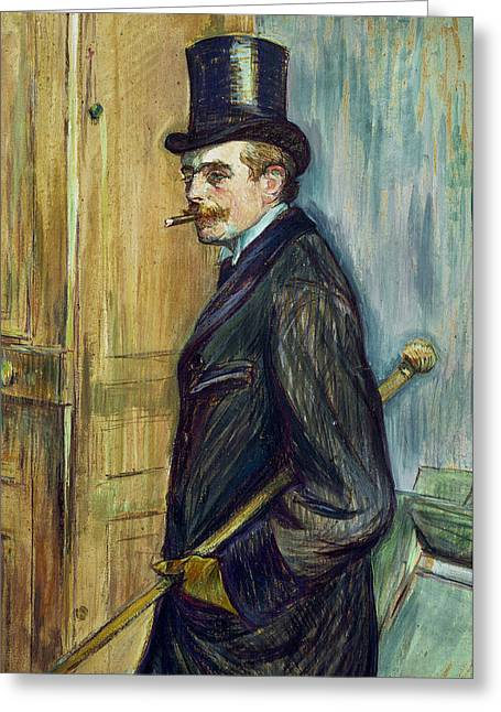 Moustache Greeting Cards - Louis Pascal Greeting Card by Henri de Toulouse-Lautrec