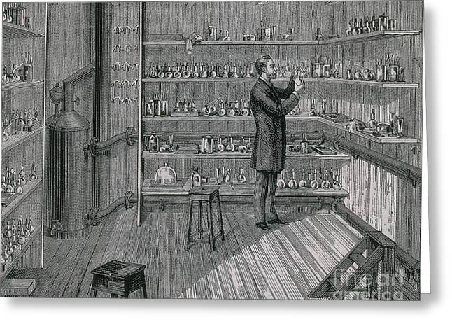 Fermentation Greeting Cards - Louis Pasteur In Hot Room, 1884 Greeting Card by Science Source